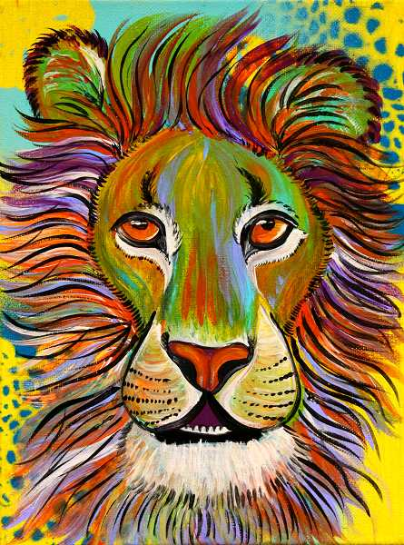 by: COURTESY OF JENNIFER PREDOEHL - A lion is part of the featured artwork available for auction during Saturday's event set for 7 p.m. at Sherwood's Perfection Farms.