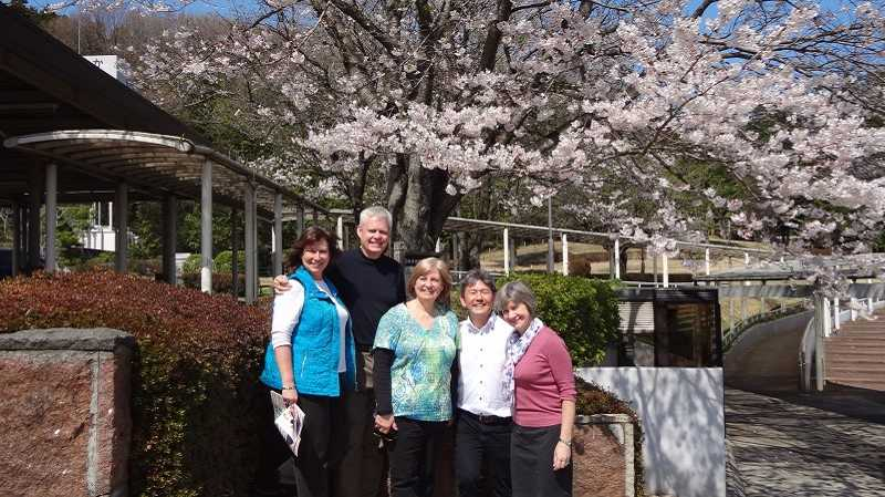 by: SUBMITTED PHOTO - The mission team included (from left to right) Terri and Dan Ferguson, Beaverton Christian executive pastor; Janell Struckmeier, children's ministry director; Pastor Takeshi Aida of the Sayama Church of Christ in Tokyo and his wife Donna.