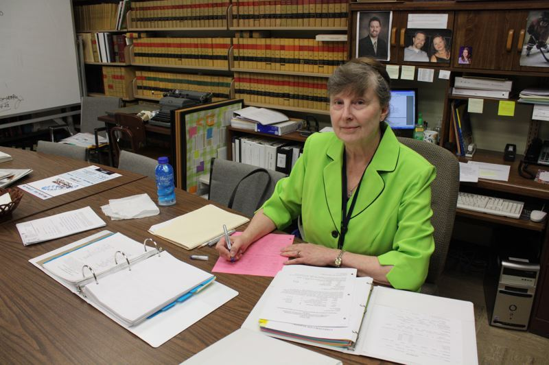 by: SPOTLIGHT PHOTO: KATIE WILSON - Linda Gaskill has worked as a volunteer at the Columbia County District Attorneys office for 13 years. She was nominated by Deputy District Attorney Jenni Jordan for the Champion of Children volunteer award.