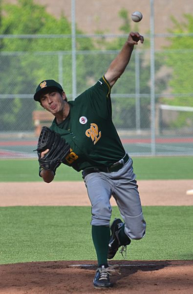 by: VERN UYETAKE - West Linn southpaw Garrett Meisen tossed a complete-game shutout to help guide the Lions into the state tournament with a 5-0 victory.