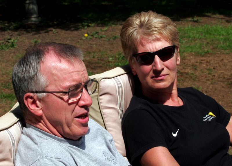 by: OUTLOOK PHOTO: JIM CLARK - Lisa and Gordon Johnson are inspired by their son Kip's resilience after his skiing accident in 2003. Both are avid Portland Pounders fans, and Gordon maintains team equipment.