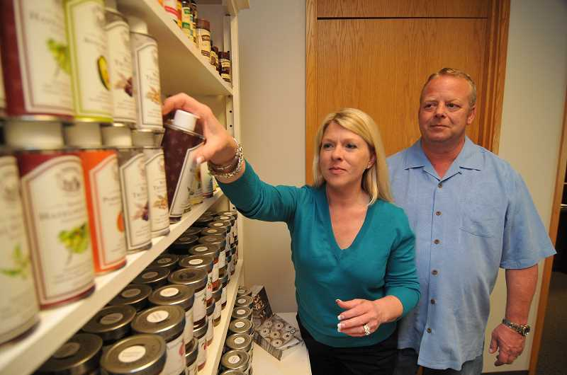 by: VERN UYETAKE - Madison Lanes office in Lake Oswego looks like food heaven. Brian and Rachel Howard can hardly keep up with the demand for their products.