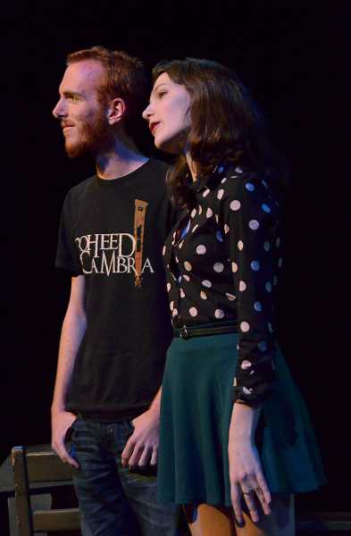 by: REVIEW PHOTO: VERN UYETAKE - Thomas Curran plays Mr. Webb, left, and Celeste Spangler is Mrs. Webb in the blue cast.