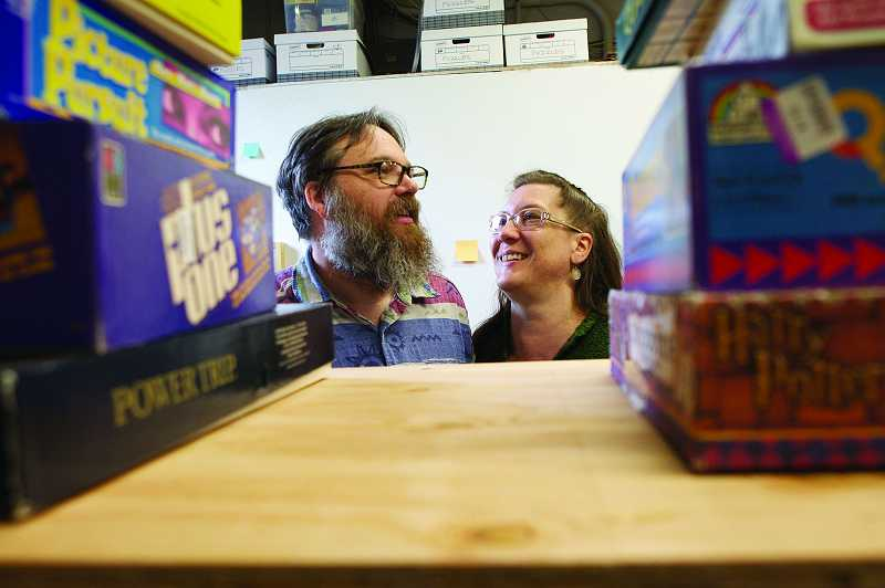 by: TIMES PHOTO: JAIME VALDEZ - Kyle Engen and wife, Carol Mathewson, are set to open the Interactive Museum of Gaming and Puzzlery in Beaverton on Thursday. The couple had been operating a game museum at their house for years.