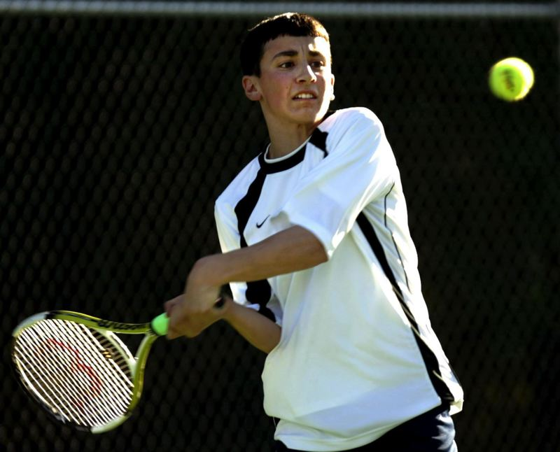 by: TRIBUNE FILE PHOTO: JIM CLARK - Alex Rovello plays his first high school match for Cleveland as a freshman in 2007. Rovello, who won four state prep titles and became the No. 1 singles player at the University of Oregon, died in a cliff diving accident near Eugene on May 11.