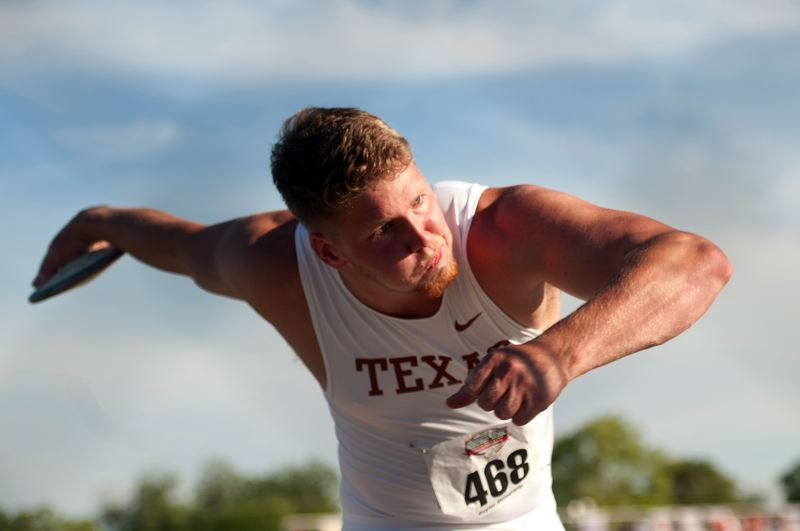 by: COURTESY OF UNIVERSITY OF TEXAS - Texas sophomore Ryan Crouser, from Barlow High, is expected to be the favorite to win the NCAA shot put when the meet comes to Eugene June 5-8.