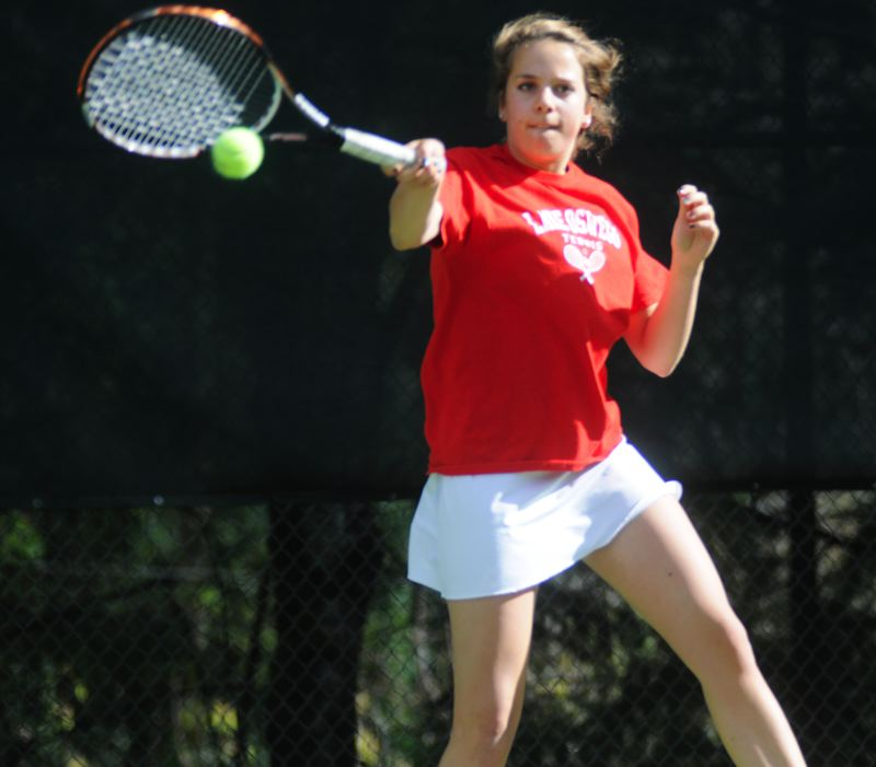 by: MATTHEW SHERMAN - Lake Oswego's Caroline Dorman, along with partner Blair Dozois, advanced to the quarterfinals of the doubles bracket at last week's state tennis tournament.