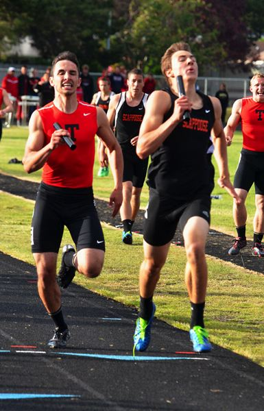 by: JOHN BREWINGTON - Scappoose's Justice Oman had two tight head-to-head races with Markus Pullen of Tillamook at district. Pullen nipped Oman by one one-hundreth in the 400, but Oman pulled out the win in the 4x400 relay anchor leg.