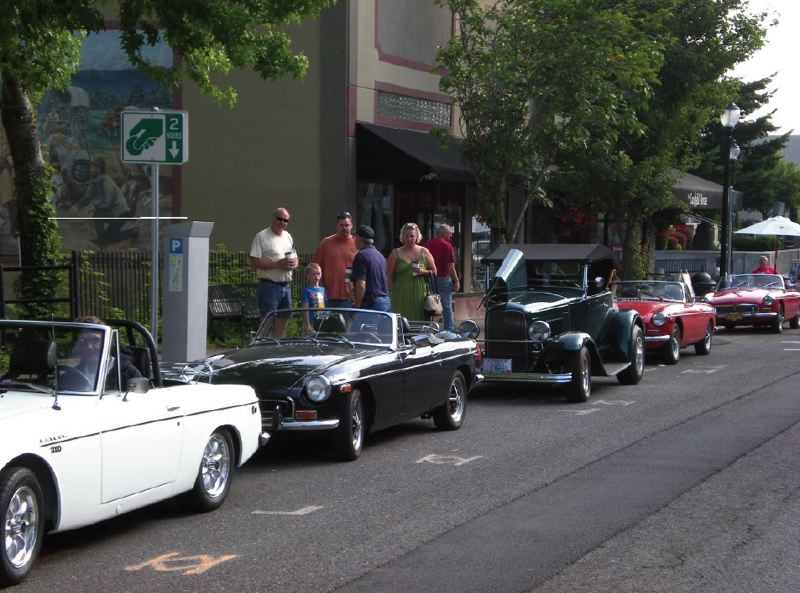 by: PHOTO COURTESY: DON SCOTT - Cars and Coffee on Main Street is pictured in downtown Oregon City last June.
