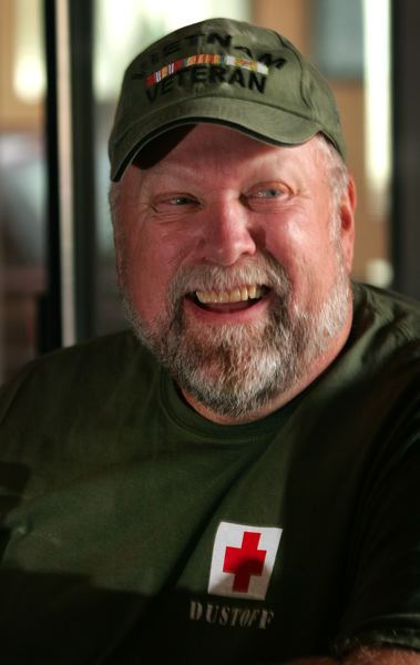 by: OUTLOOK PHOTO: JIM CLARK - Rob Cannon,65, served in the Vietnam War. Three weeks into his deployment, he was injured when his platoon walked into a mind field in Chu Lai, Vietnam.