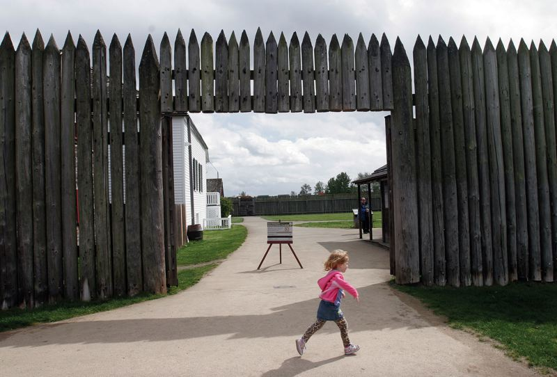 by: JIM CLARK/PAMPLIN MEDIA GROUP - The buildings now standing at the Fort Vancouver site are reconstructions of the originals that once served the Hudsons Bay Company, the 19th-century fur-trading giant.
