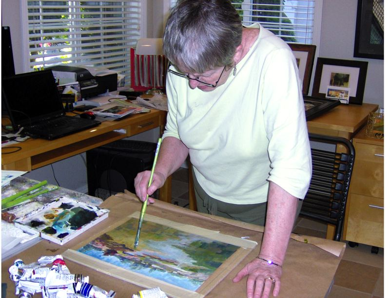 by: CONTRIBUTED PHOTO - Watercolor artist Donna Sanson will give a demonstration Sunday, June 16, at Art on Broadway Gallery in Beaverton. See details in June 16 listing.