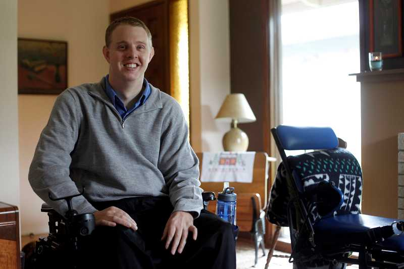 by: TIMES PHOTO: JONATHAN HOUSE - Even though Jake French is now a quadriplegic, he has regained limited use of his upper body, arms and fingers.