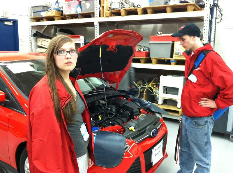 by: CONTRIBUTED BY GLEN NATION - Estacada high school students Brittany Thompson and Michael Gabriel competed in the Ford/AAA State Skills Content on May 10 at Mt. Hood Community College.