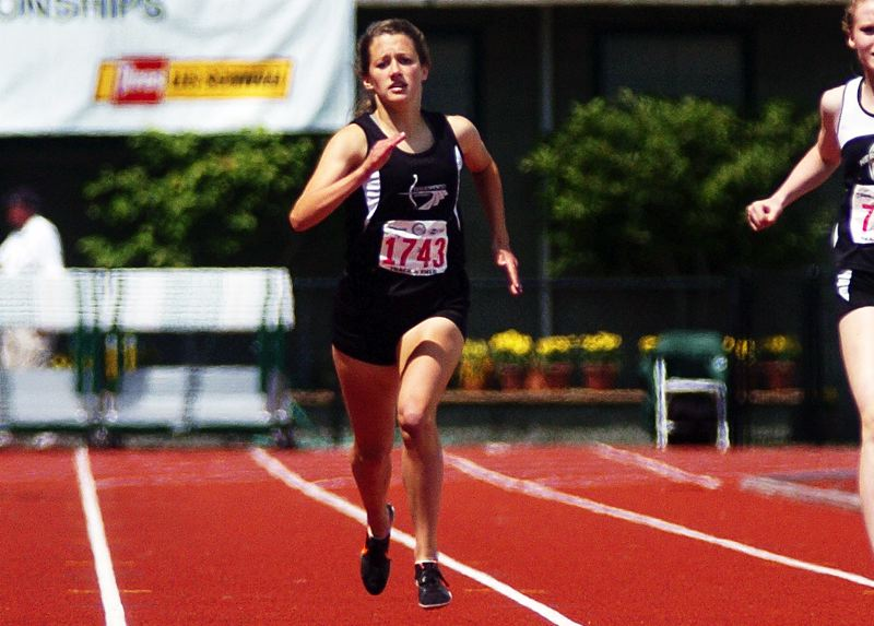 by: DAN BROOD - FAST AT STATE -- Sherwood senior Jessica Imbrie finished fourth in the 400-meter dash and second in the 200 Saturday at the Class 5A state meet.