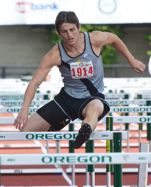 by: JOHN BREWINGTON - St. Helens' Kendrick Alvarez took sixth in the high hurdles and seventh in the intermediate hurdles at the 5A state meet on Saturday in Eugene.