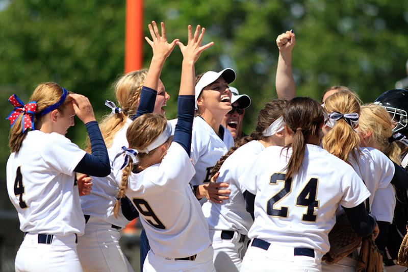by: NEWS-TIMES PHOTO: AMANDA MILES - Banks celebrates after winning title.
