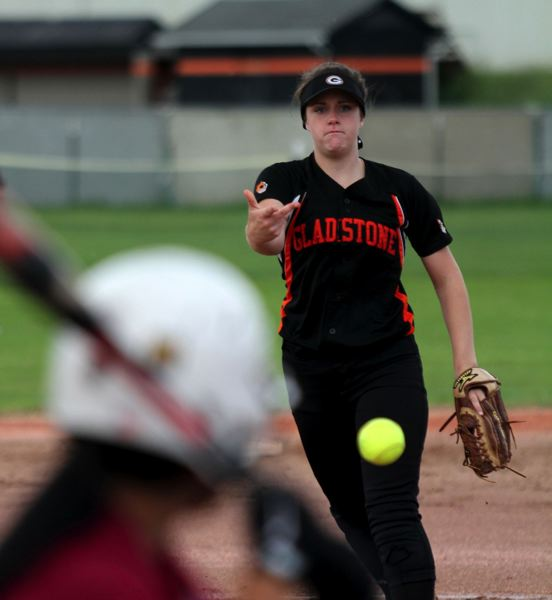 by: JONATHAN HOUSE - Gladstone pitcher Nena Dudley