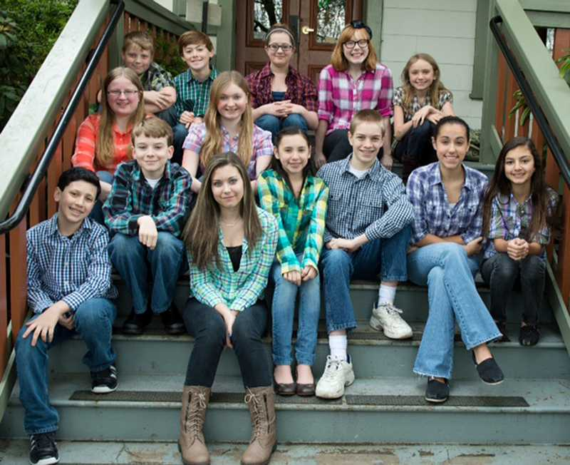 by: COURTESY PHOTO - The STAGES Performing Arts Youth Academy will present Oregon or Bust at the Washington County Museum Saturday. Ainsley Campista, Hallie Bartell, Rylie Bartell, David VanDyke, Chloe Beaston, Riley Edwards, Kaelynn Touchstone, Isaiah Espinosa, Caleb Inman, Frankie Woodman, Caleb Kinder, Bronwyn Grover, Hannah Wilson and Maya Erickson are part of the troop.