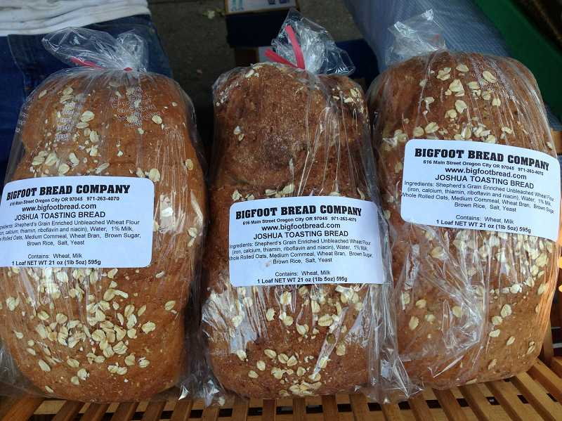 by: COURTESY PHOTO - Greg Arnold brings a variety of fresh breads to the Forest Grove Farmers Market every week--and always sells out.