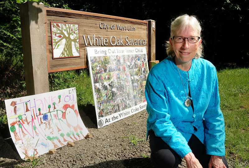 by: TIDINGS PHOTO: VERN UYETAKE - Roberta Schwarz has spent the last nine years fighting to protect the White Oak Savanna park.