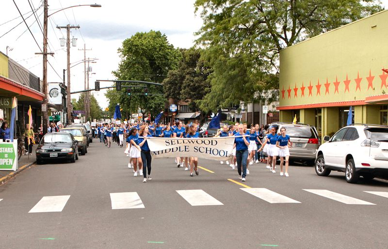by: DAVID F. ASHTON - For the first time, the Sellwood Middle School Appreciation Parade also marches through the streets of Westmoreland.