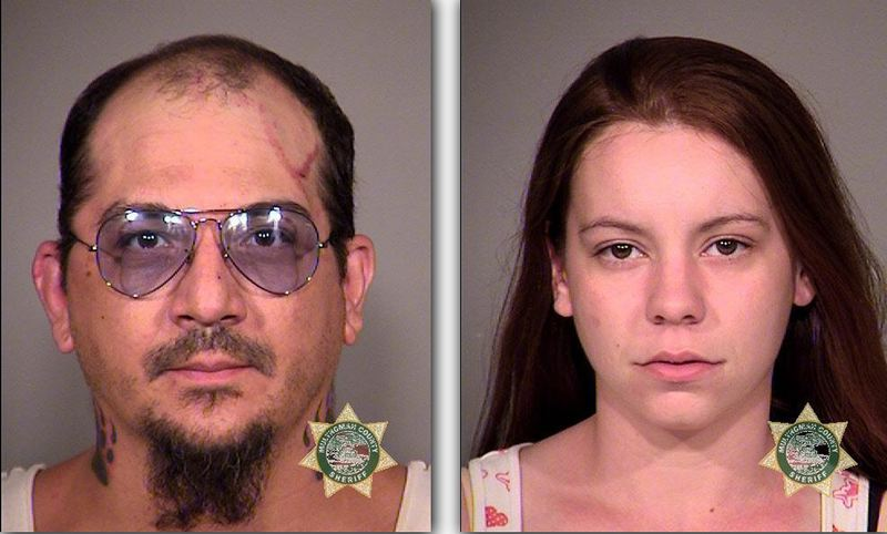by: MCDC BOOKING PHOTOS - The shooting suspects now in custody: 38-year-old Bryan Curtis Whitecloud, and 26-year-old Jillian Ann Kay.