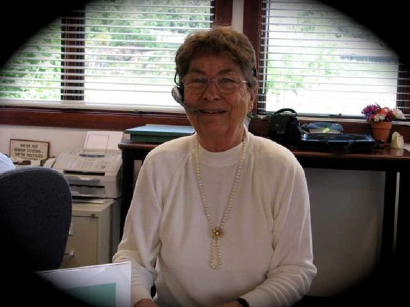 by: SUBMITTED PHOTO - Phyl Baden, longtime volunteer at the West Linn Adult Community Center, died May 19. She will be missed by many members.