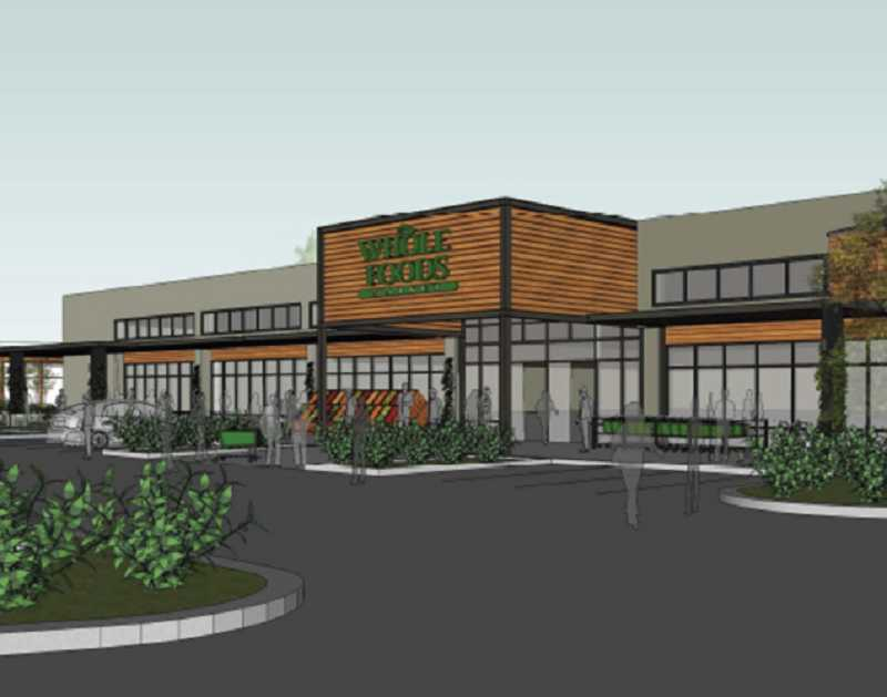 by: SUBMITTED RENDERING - Plans for a new remodeling at Greenway Town Center include a new supermarket, Whole Foods, which will take over the Lambs on Scholls Thriftway.