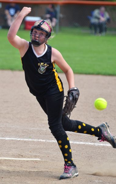 by: JOHN BREWINGTON - St. Helens' Brea Paulson had a pretty good tournament weekend, striking out 55 batters in five games. Pretty good for a 10U pitcher.
