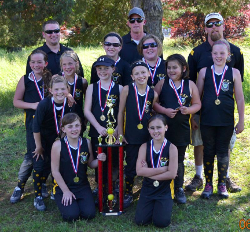 by: SUBMITTED PHOTO - Members of the St. Helens S.W.A.T team that won the Scappoose NAFA B&C Tournament last weekend include (back row, from left) Karlee Webster, Savannah Moore, Portia White, Hannah Russell, Brea Paulson, (middle row) Maria Reardon, Ellie Austin, Dessa Cooper, Helayna Flores, (front) Jasmyne Pense, Kamryn Hubbs. Coaches in the back are Kyle Cooper, Rory Moore, and Kurt Paulson. Not pictured are Hailey Yon and Maddy Blazek.