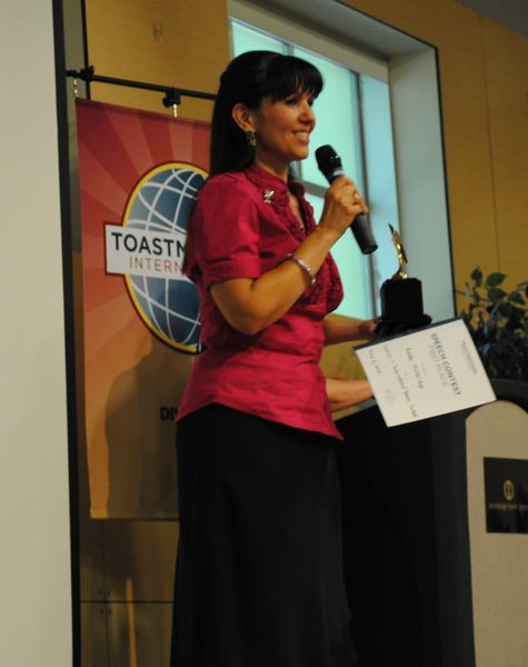 by: SUBMITTED PHOTO - Rhonda Holdridge said there could be hundreds of competitors at the Toastmasters International Convention in Ohio.