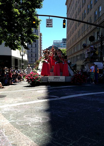 by: COURTESY OF ANDREW AEBI - The Portland Rose Festival Queen's float featured Queen Hanna in this photo by Andrew Aebi.
