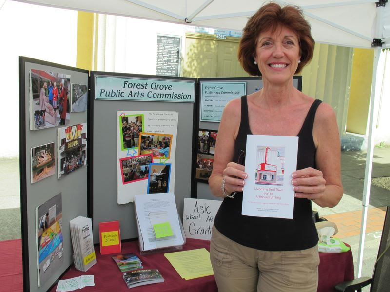 by: NEWS-TIMES PHOTO: STEPHANIE HAUGEN - Living in a Small Town Can Be a Wonderful Thing was sold at the Harvey Clarke Elementary School Book Fair and featured at the Forest Grove First Wednesday Market at the Public Arts Commission booth.
