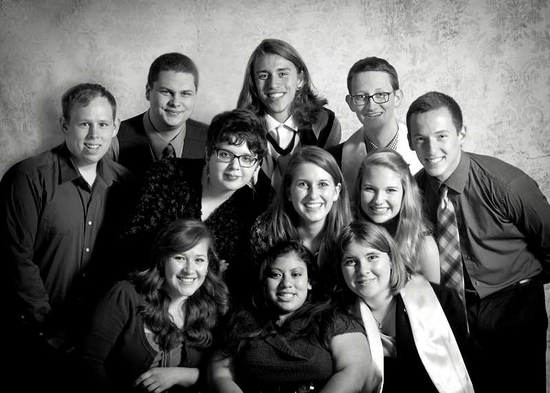 by: SUBMITTED PHOTO: PICTURE THIS PHOTOGRAPHY - From left to right, back row: Zach Levin, Jade Moore, Joel Larson, Oliver Muggli, Dustin Wilhelm. Middle row: Kelsey Gray, Casey Oswant, Leah Henningson. Front: Maria Jazmin Gutierrez-Zepeda, Bene Wilsted, Elise Brown. Not pictured: Angelica Jolley.