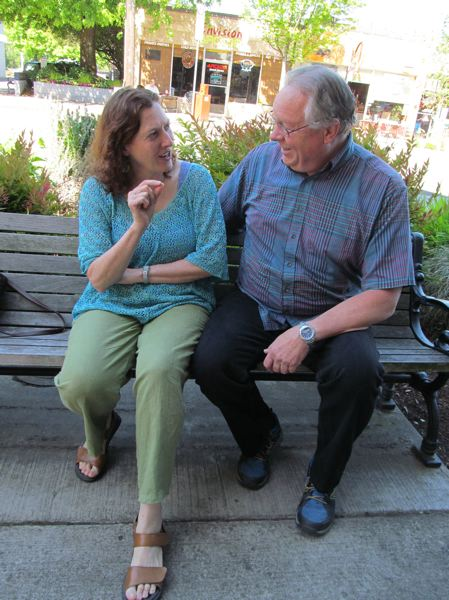 by: PHOTO BY ELLEN SPITALERI - Milwuakie residents Concetta Antonelli and Ken Iverson get ready to share their storytelling skills at two upcoming events in Portland.