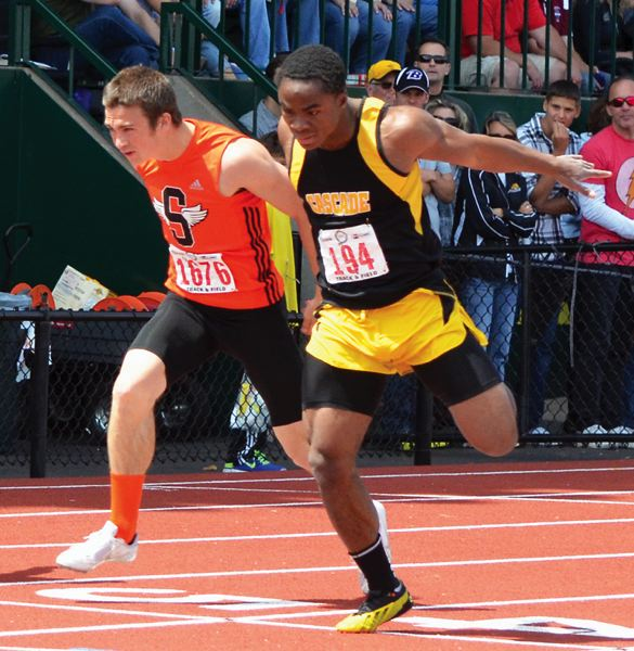 by: JOHN BREWINGTON - All-State Track in four events, All-League four events