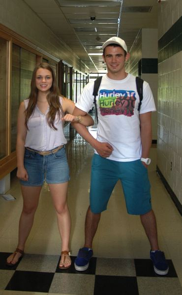 by: ISABEL GAUTSCHI - Valedictorians Madeline Dinsdale and Landon Young have been friends since eighth grade.