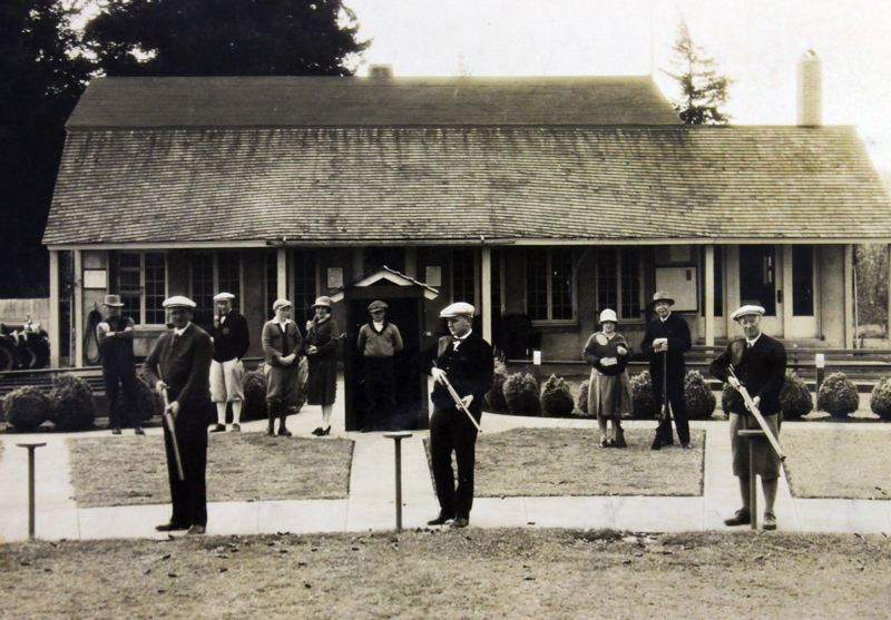 by: CONTRIBUTED PHOTO: PORTLAND GUN CLUB - Trapshooters line up for the Pacific Coast Distinguished Handicap Shoot in May 1928.
