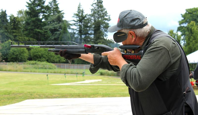 by: OUTLOOK PHOTO: CARI HACHMANN - Daro Handy is one of the top trapshooters in the nation.