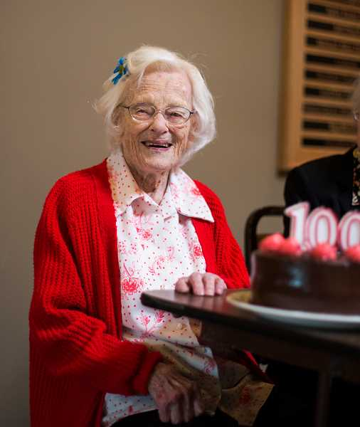 by: NEWS-TIMES PHOTO: CHASE ALLGOOD - Loula Wells of Forest Grove turned 100 on June 16. She was born in Nebraska in 1913.