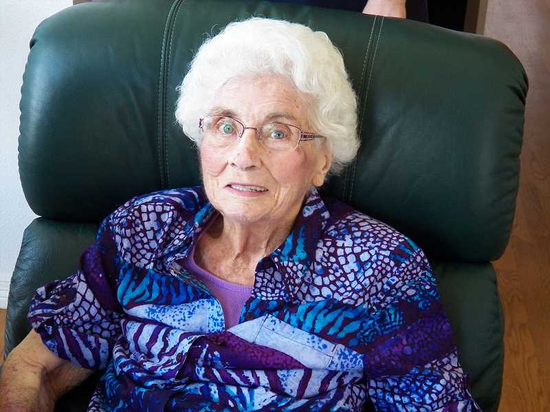 by: COURTESY PHOTO - Forest Grove resident Esther Stephens reached her 100th birthday on June 11. Her hometown is Lake Stevens, Wash.
