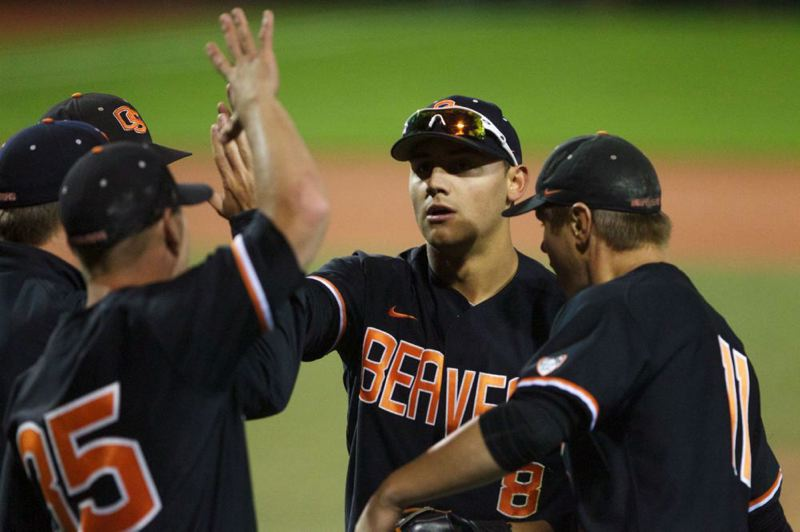 by: TRIBUNE FILE PHOTO: JAIME VALDEZ - Oregon State left fielder Michael Conforto was a standout quarterback and safety on his Redmond (Wash.) High football team, but he gave that up to focus on baseball and go easier on his body.