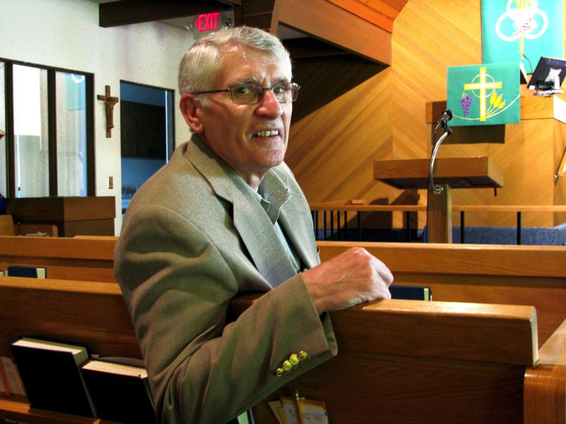 by: OUTLOOK PHOTO: LISA K. ANDERSON - Dennis Bohren preached his last message Sunday, June 16, and will conclude his pastoral career at Ascension Lutheran Church in Gresham at the end of June.
