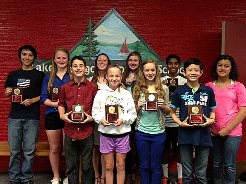 by: SUBMITTED PHOTO - LOJHS 2013 Students of the Year are, from left: Keon Feldsien, Emma DeVine, Jake Ferdig, Kaylee Nichol, Bailey Cheetham, Gillian Arthur, Julia Wolf, Ajay Pallekonda, Ryan Lew and Malaika Murphy. Not pictured are Adam Lininger-White and Andrew Todt.