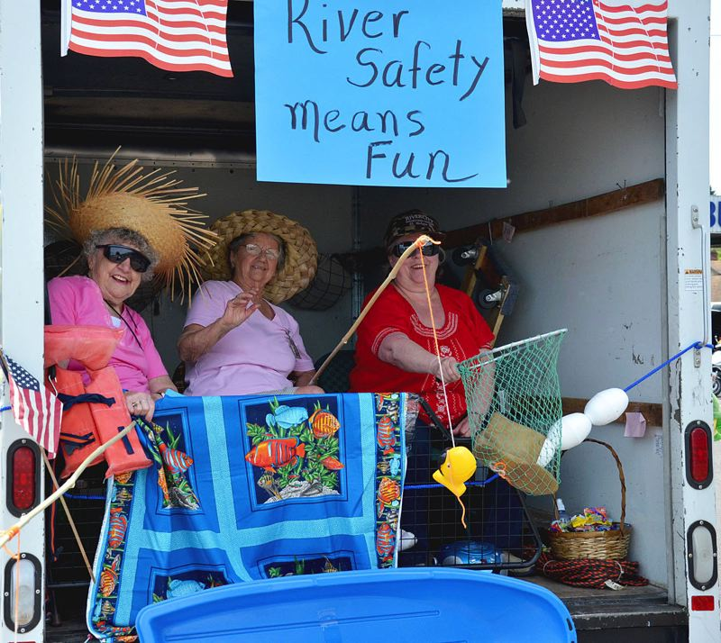 by: JOHN BREWINGTON - Senior Citizen Thrift Store fisherwomen were having quite a time.