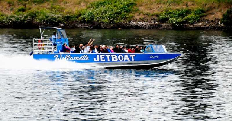 by: SUBMITTED PHOTO - The 60-foot jet boat from Willamette Jetboat will take people on a 60-mile tour of the Willamette River.
