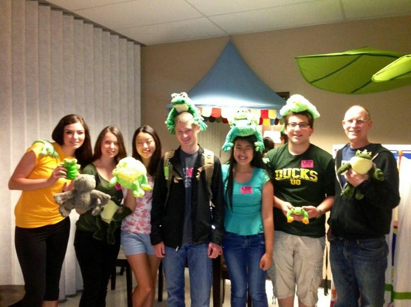 by: CONTRIBUTED PHOTO: SCOTT LIPNER - Lipner and his students showcase his collection of frogs amassed during his 18 years at Gresham High.