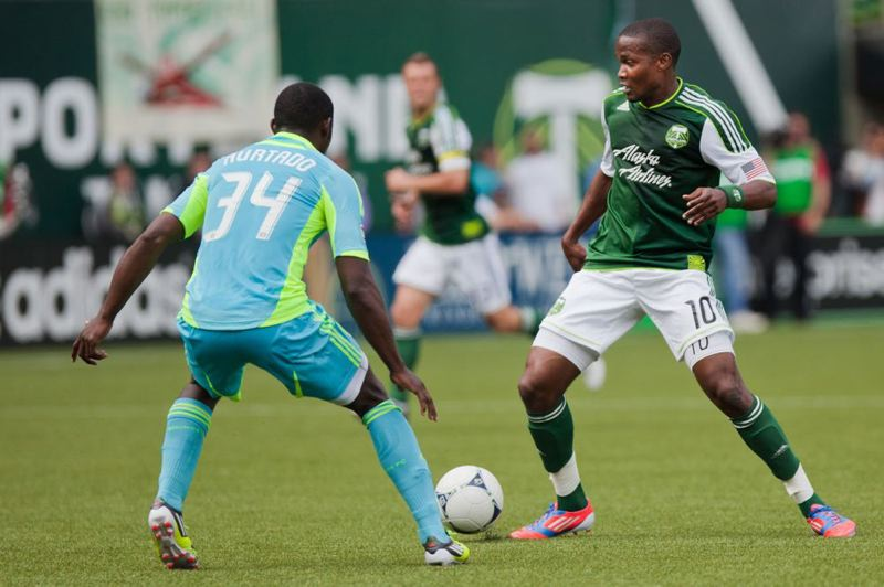 by: TRIBUNE FILE PHOTO: MEG WILLIAMS - Danny Mwanga, former Portland Timbers who also played for Jefferson High and Oregon State University, will be sworn in Monday as a U.S. citizen.