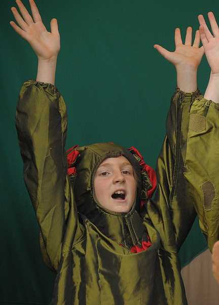 The Missoula Childrens Theatre gave a wonderful performance of The Tortoise Versus the Hare. Here, Mikki Littler plays a bearded dragon.